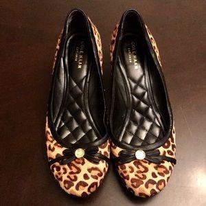 Cole Haan leopard print wedge